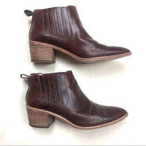 Madewell Leather Bonham Ankle Booties